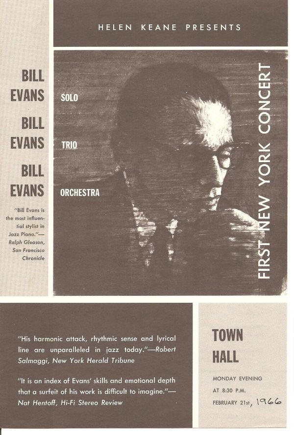 Bill Evans at Town Hall - JazzWax