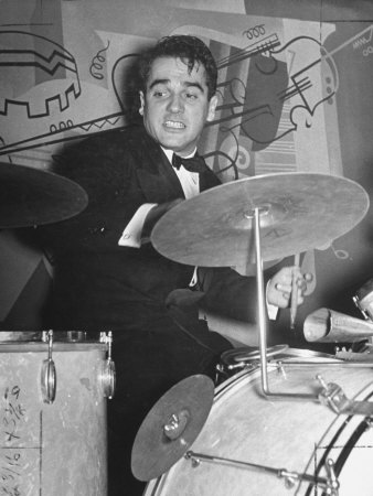 5549917~Drummer-Gene-Krupa-Drumming-in-Benny-Goodman-s-Band-in-the-Manhattan-Room-at-the-Hotel-Pennsylvania-Posters