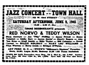 TownHall Advt 1945-adjX72