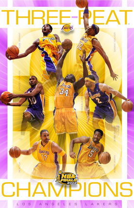 333602~Los-Angeles-Lakers-Three-Peat-NBA-Champions-Posters