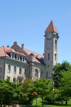 Indiana-university-bloomington-clock-tower-of-student-union-building