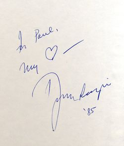 Dizzy Gillespie signature in his book to Paul (Slaughter)