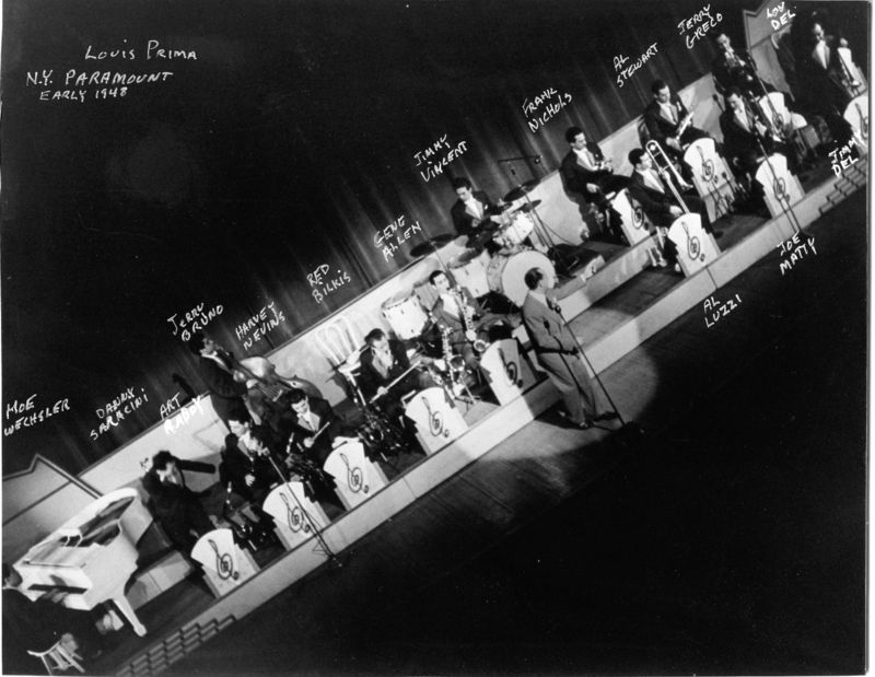 Louis Prima early 1948 Paramount NY