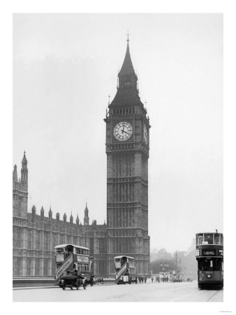 WA4173693~Big-Ben-and-Westminister-Bridge-circa-1930-Posters