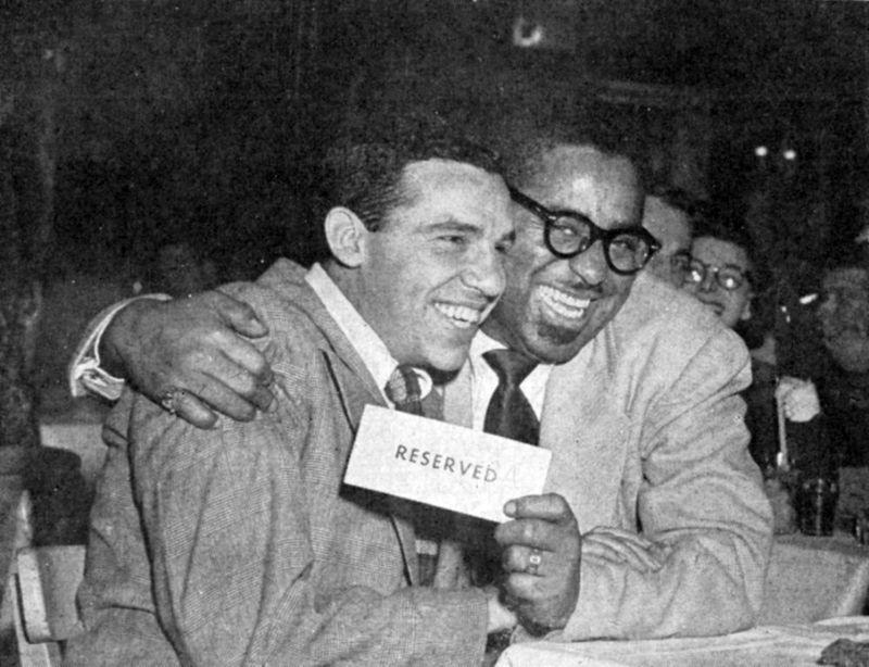 Buddy Rich and Dizzy Gillespie.