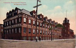 Postcard Columbia Phonograph Factory Bridgeport CT