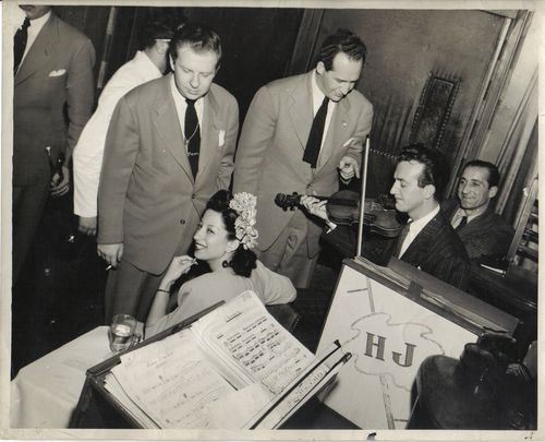 Jazz-Sam Marowitz, Helen Forrest-vocal, Sam Caplin-Violin, Harry James-playing Violin, Al Monte-Rd. manager