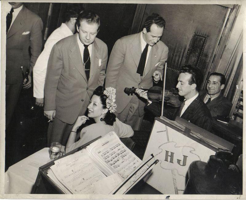 Jazz-Sam Marowitz, Helen Forrest-vocal, Sam Caplin-Violin, Harry James-playing Violin, Al Monte-Rd. manager