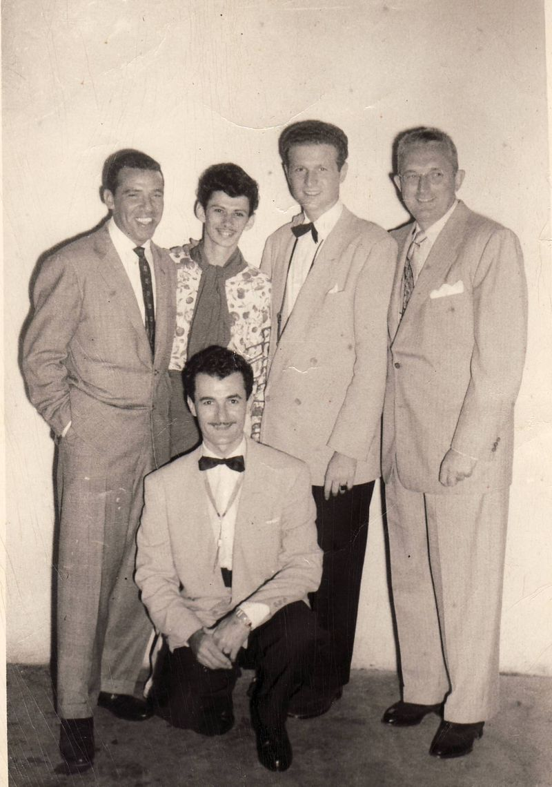 Sol Schlinger in Cuba w: Tommy Dorsey, Buddy Rich and Babe Fresk