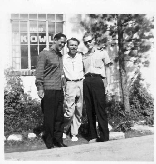 Arno Marsh-Trummy Young, Ted Phillips (radio announcer), Arno Marsh in 1957 outside radio station at Lake Tahoe