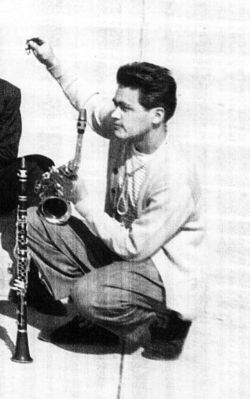 Anthony Ortega in 1947, at Jordan Junior and Senior High School