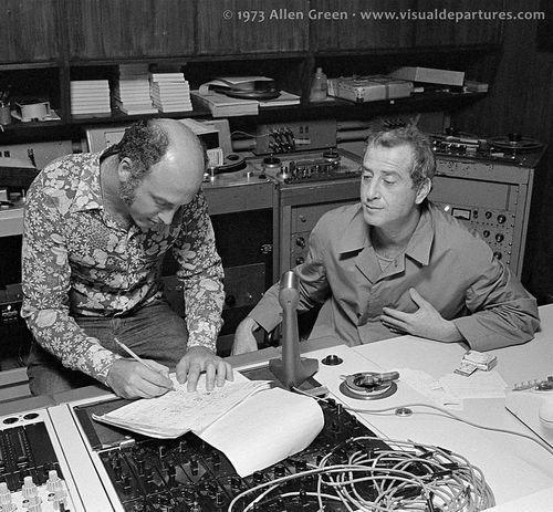Leiber-Stoller-working-at-mixing-console