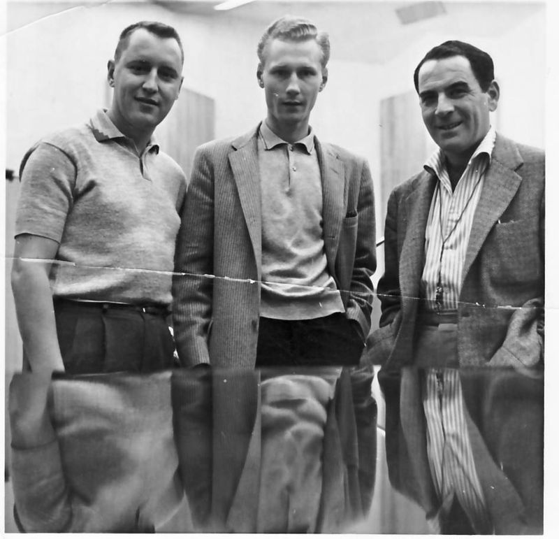Arno Marsh-Don Fagerquist, Arno Marsh, Georgie Auld in 1958 at Capitol Records, Los Angeles