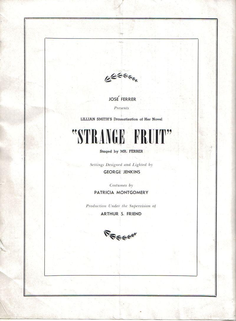 Strange Friut-Program-b