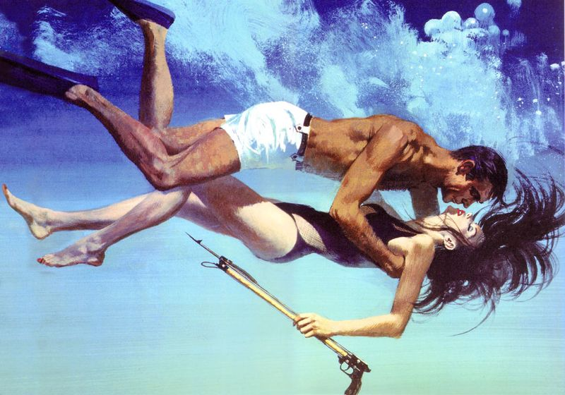 Bond-and-domino-underwater+thunderball+artwork+robert+mcginnis