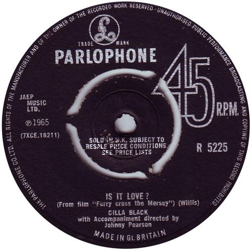 Cilla-black-is-it-love-parlophone