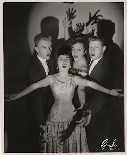 ABev Kelly—with Pat Moran, John Whited, left, John Doling, right, 1956:choreographed by Prince Spencer:tight
