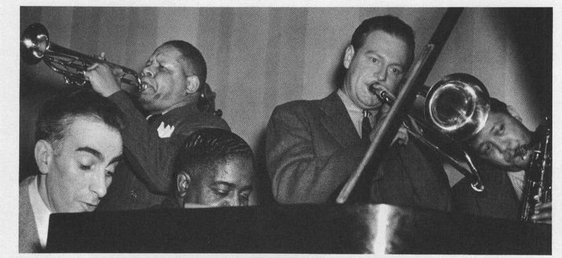 ART HODES AND PETE JOHNSON PIANO, RED ALLEN TRUMPET, LOU MCGARITY TRIMBONE, LESTER YOUNG TENOR SAX