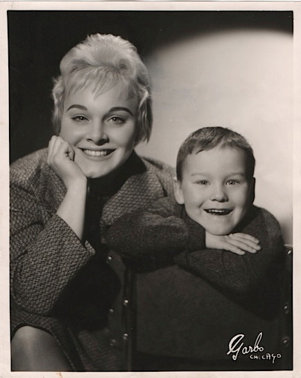 Bev Kelly 1958 with son Greg