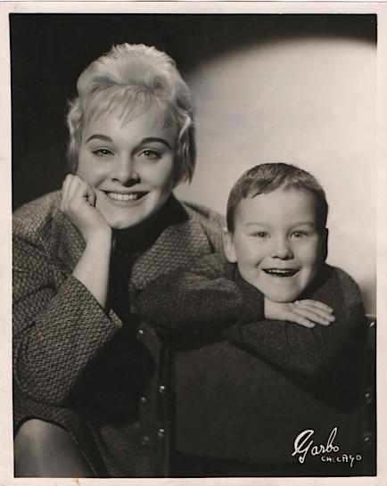 Bev Kelly 1958 with son Greg