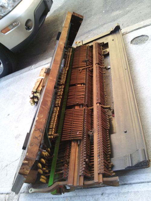 Piano mechanism, photo by Marc Myers:JazzWax.com