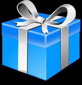 Blue-Gift-wrapped-box