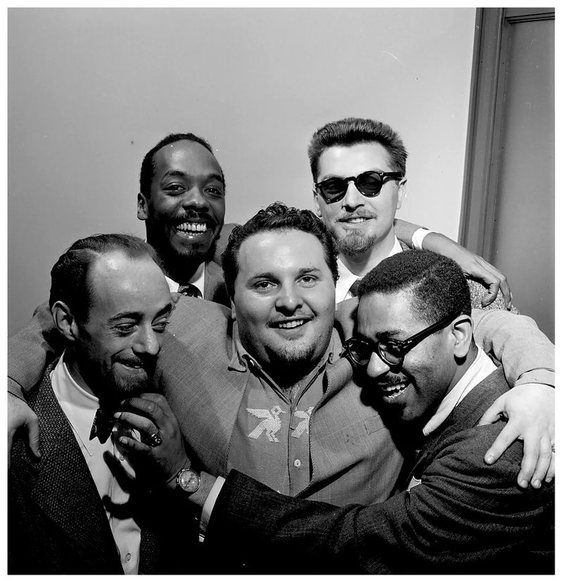Dave-lambert-john-simmons-chubby-jackson-george-handy-and-dizzy-gillespie-1947-william-p-gottlieb