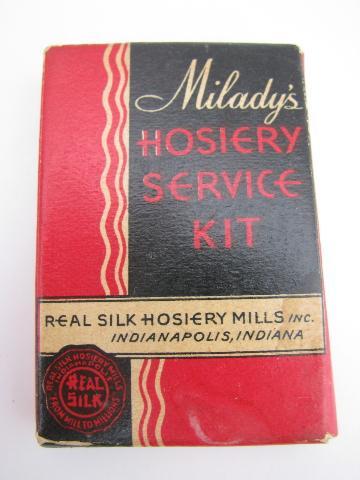 Art-deco-30s-vintage-silk-floss-sewing-kit-for-mending-silk-stockings-Laurel-Leaf-Farm-item-no-k01467-1