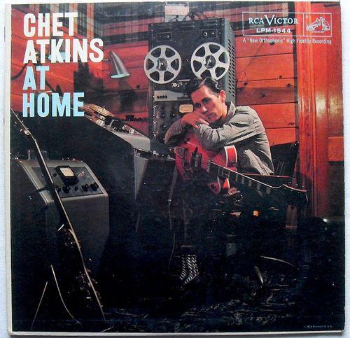 CHET+ATKINS+1950s+At+Home+LP+record+album+vintage+vinyl+
