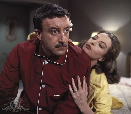 Still-of-peter-sellers-and-capucine-in-the-pink-panther-(1963)-large-picture