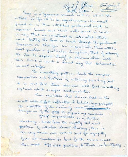 Bill Evans comments on Miles Davis Kind of Blue page 1