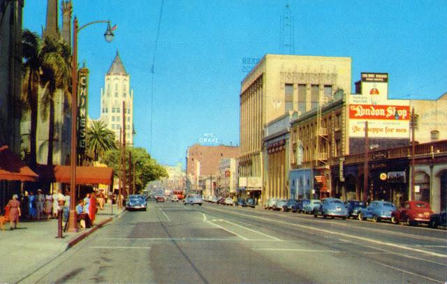 Hollywood+boulevard+california+1950s