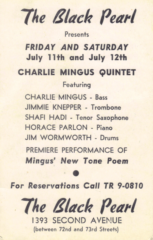 Jimmy with mingus