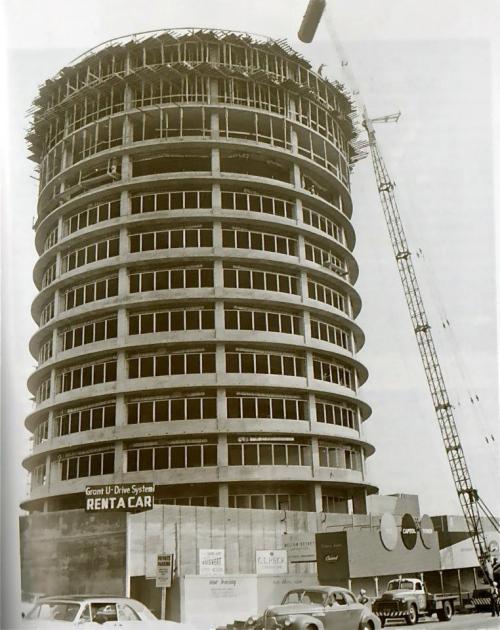 Capitol-Records-building-under-construction-1954