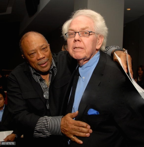 Quincy-jones-and-stan-freberg-at-the-retrospective-50-years-of-legacy-picture-id85187676