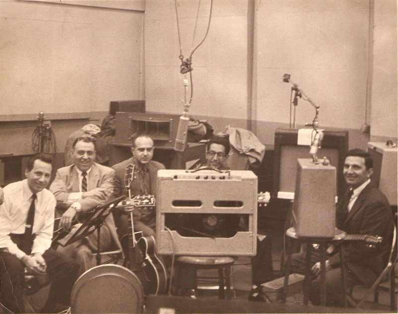 Tony Mottola group in studio 1959