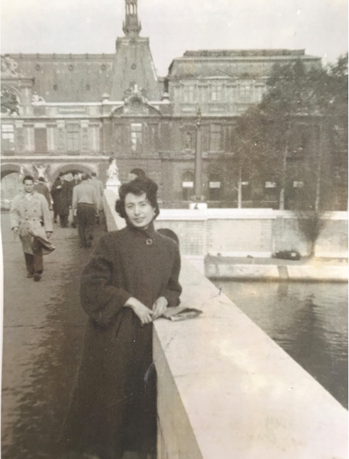 Bernice Myers in Paris in 1954-55