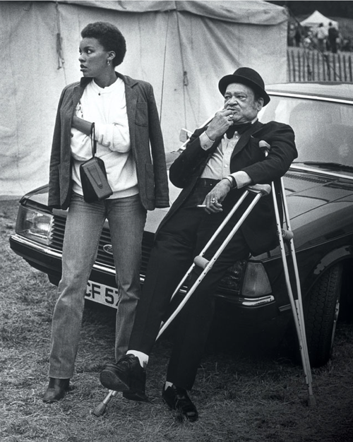 Arnett Cobb and his daughter Lizette Cobb in London, 1979