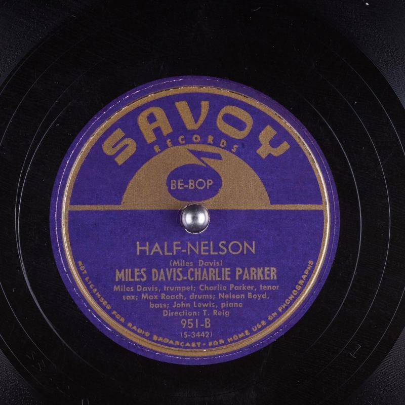 78_half-nelson_miles-davis-charlie-parker-max-roach-nelson-boyd-john-lewis-t-reig_gbia0062074b_itemimage